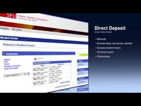 How to enroll in direct deposit for students at SFU