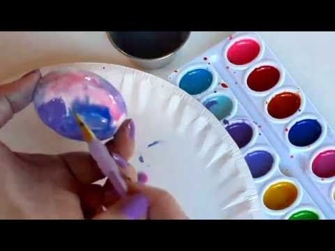How to Make Watercolor and Gilded Easter Eggs