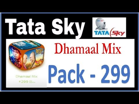 Tatasky Dhamaal Mix Pack -299 Details in Hindi   All channel details of Dhamaal Mix pack tatasky