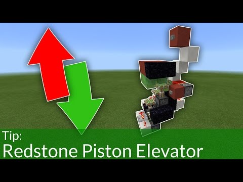 How To Build a Piston Elevator in Minecraft Pocket Edition