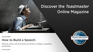 Discover the Toastmaster Online Magazine