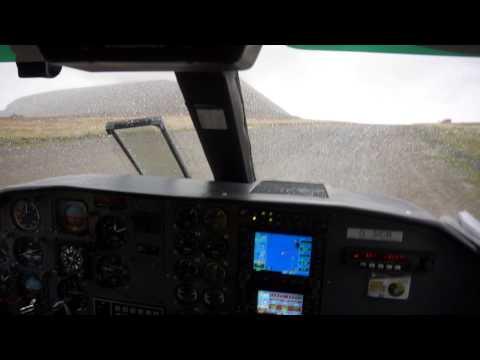Landing at Foula Island gravel airstrip, Shetland: Rain, Crosswind, Fog everything a pilot asks for.