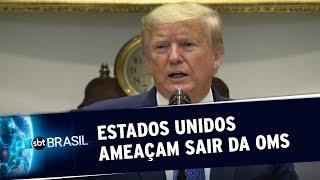 Estados Unidos ameaçam deixar a Organização Mundial da Saúde | SBT Brasil (19/05/20)
