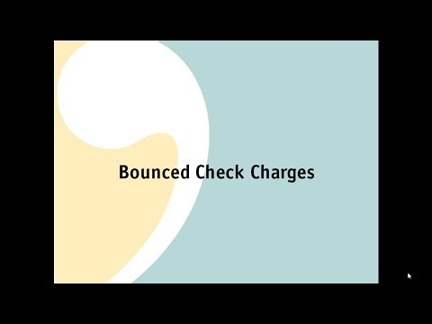 Bounced Check Charges
