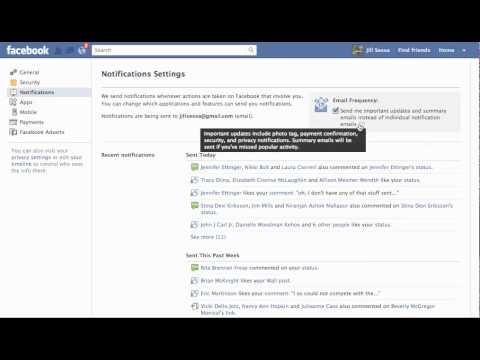 Facebook Email Notification Settings - Tame Your Email Inbox