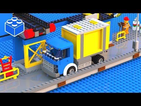 How To Build LEGO City Harbor Truck. Custom LEGO Harbor Set MOC
