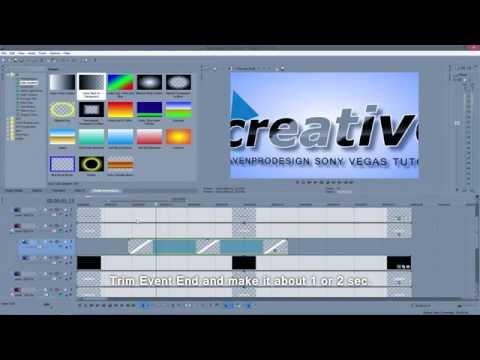 How to make Intro in Sony Vegas Pro (Quick Elegant Intro non voice tutorial )