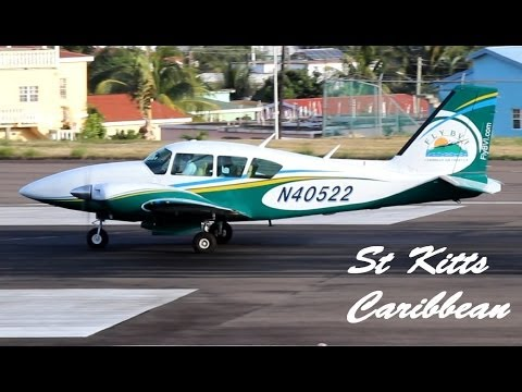 FLY BVI, Piper PA-23 Aztec @ St Kitts (HD 1080p)