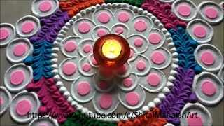 Very easy  and simple rangoli design for diwali|attractive rangoli for festival|by shital mahajan