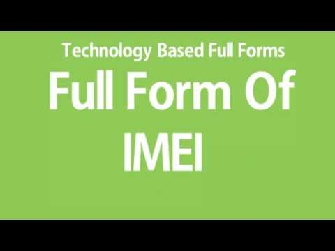 Full Form Of IMEI