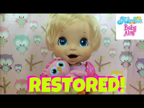 Baby Alive 2006 Restored! How to Remove Black Ink Stains Off of Your 2006 Soft Face silicone Doll