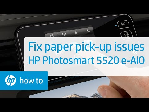 Fixing Paper Pick Up Issues - HP Photosmart 5520 e-All-in-One Printer