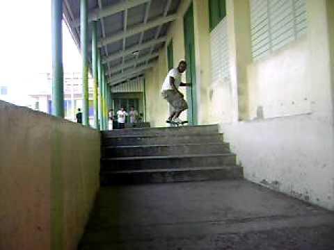 Pine Stairs Kickflip