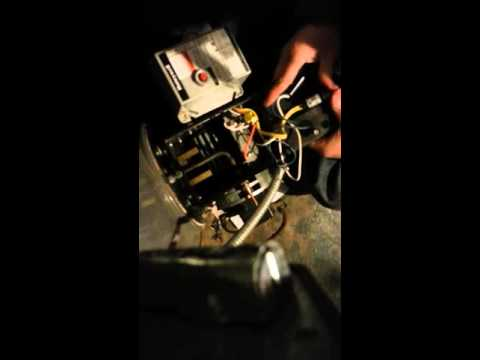 How to replace the transformer on an oil fired hot water heater.