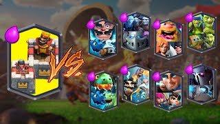 KING TOWER TEAM VS ALL TEAMS   CLASH ROYALE TEAM CHALLENGE