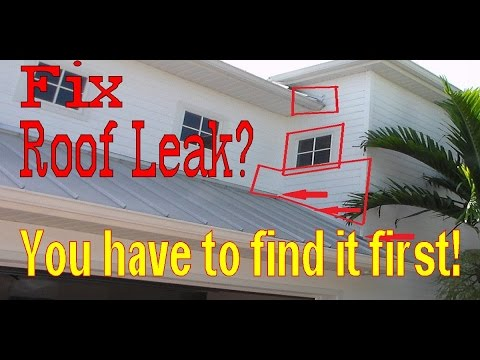 Ceiling Leaking Water - How to Find a Roof Leak