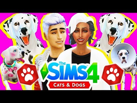 The Sims 4 Cats & Dogs #2! 🐶 PUPPY BIRTHDAYS & PREGNANCY?! 🐶 101 DALMATIANS CHALLENGE 🐶