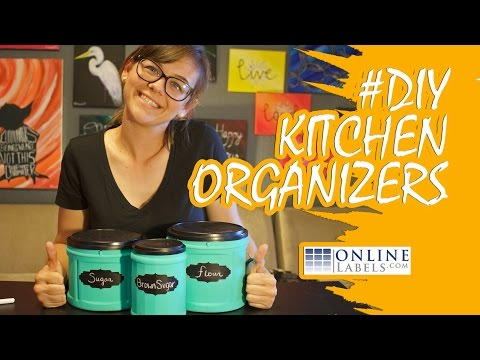 Upcycled Coffee Container Kitchen Organizers