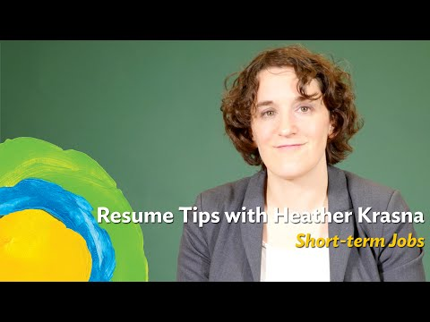 What should you do to your resume if your jobs are short-term?