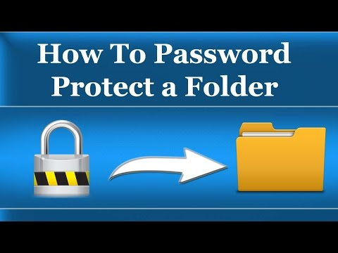 How To Password Protect a Folder in Windows 7/8/10/XP - Without Software