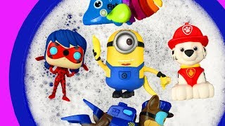 Learn Colors with Bucket of Toys, Pj Masks, Paw Patrol, Vampirina, Animals and Super Heroes
