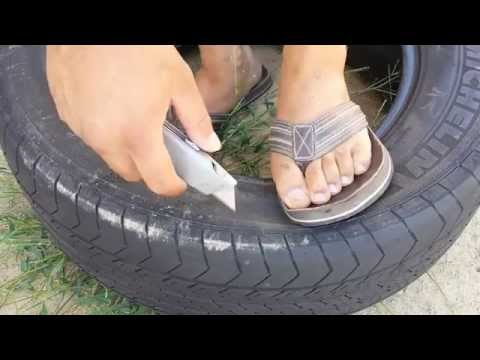 Separate sidewall from tire for fast and easy disposal or DIY projects