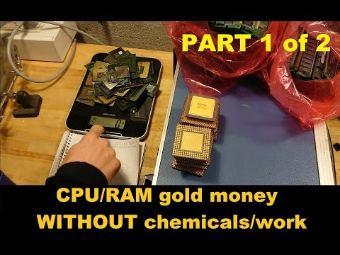 Computer scrap gold money WITHOUT chemicals or mechanical processing (part 1 of 2)