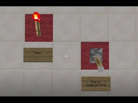 Minecraft Tutorial: Fire Alarm System