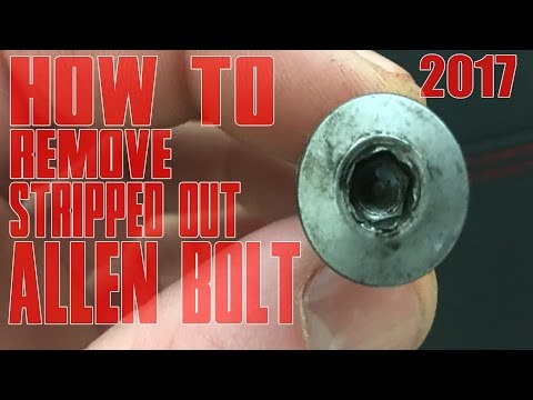 HOW TO Remove STRIPPED OUT Allen Bolt On MOTORCYCLE Hex Head Bolts Quick Easy Bike FIX TUTORIAL 2017