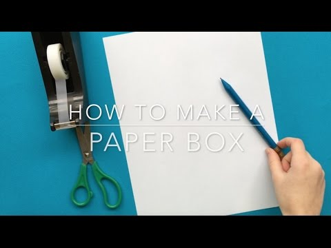How to Make a Box from a Sheet of Paper (EASY)