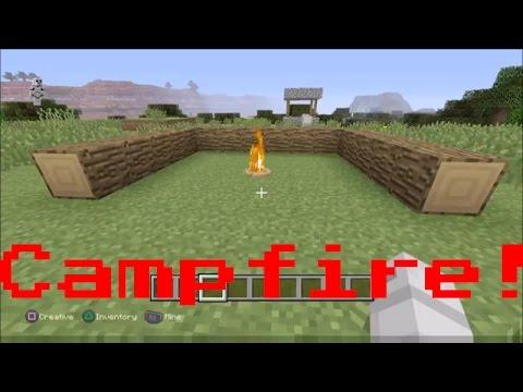 Minecraft PS4: How to make Camp Fire (No Mods)