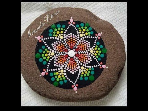 How to paint a DOT mandala - Spring Flower - dot art painting with Miranda