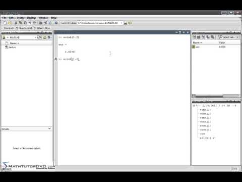 Matlab Essentials - Sect 17 - Hyperbolic Functions and their Inverses