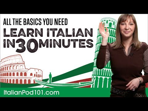 Learn Italian in 30 Minutes - ALL the Basics You Need
