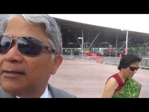 Aruna & Hari Sharma from North Greenwich Station to The O2 Arena, London, Jun 07, 2016