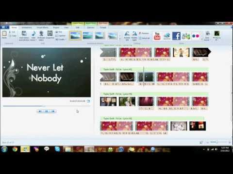 How To Make A Lyrics Video Using Windows Live Movie Maker