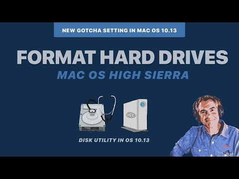 High Sierra 10.13: Format External Hard Drives