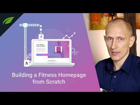 Building an Entire Homepage from Scratch (Fitness Website)