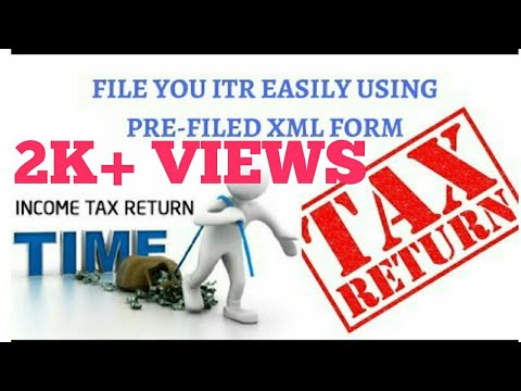 File your ITR 1 easily using pre-filed XML form ?