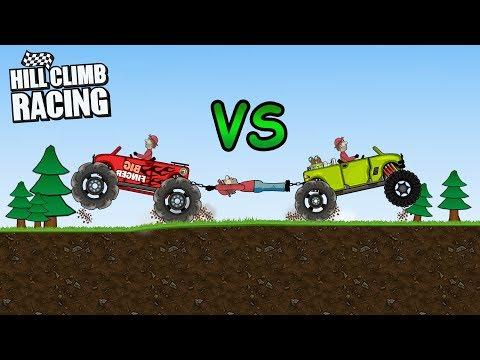 Hill Climb Racing - Big Finger vs Garage Big Monster   2K GamePlay