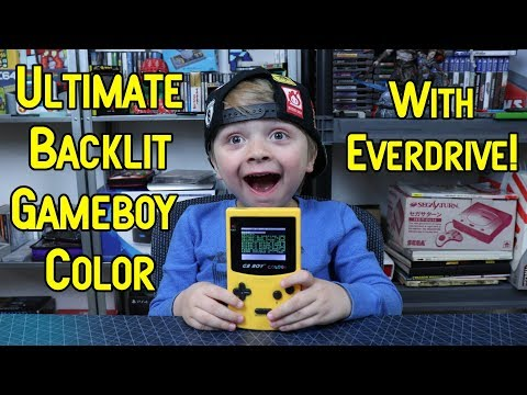 The Ultimate Gameboy Color Backlight Setup! GB Boy Color With Everdrive!