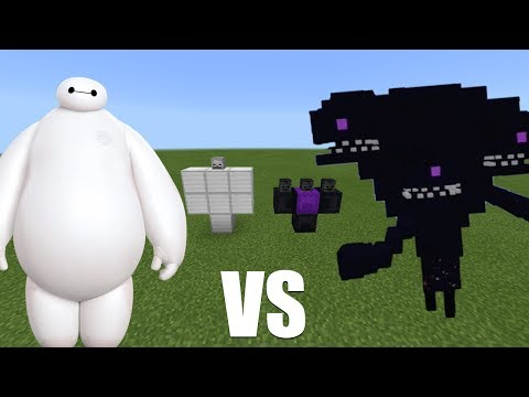 What Happens When You Spawn Baymax & the Wither Storm in Minecraft PE?