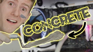 I Can't Believe This Worked!!! - Concrete Cooled PC (April Fools 2019)