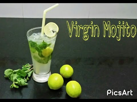 How to make Virgin Mojito With Sprite (Restaurant style) || Lemon Mint Mocktail