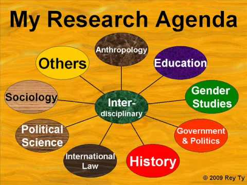 My Research Agenda -- Rey Ty