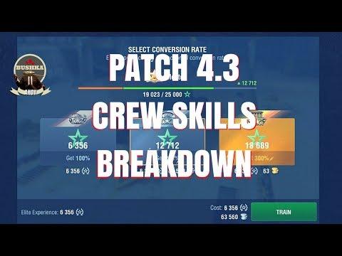 PATCH 4 3   Complete Crew Skills breakdown World of Tanks Blitz