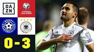 Can sieht Rot, Gündogan trifft doppelt: Estland - Deutschland 0:3 | EM-Quali | DAZN Highlights