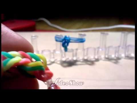 Fish tail EASY DIY Rainbow loom-Cupcake Jar