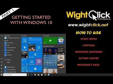 Getting started with Windows 10 part 1
