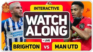 BRIGHTON vs MANCHESTER UNITED With MARK GOLDBRIDGE LIVE
